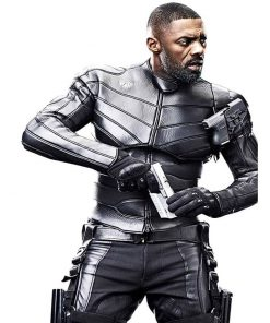 Fast and Furious Hobbs Shaw Idris Elba Black Leather Jacket