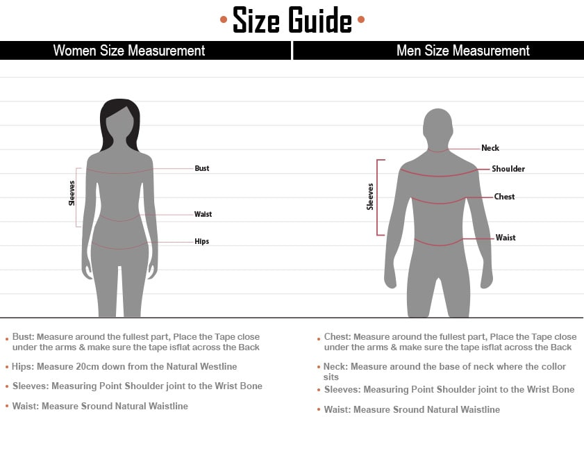 Men & Women Size Guide