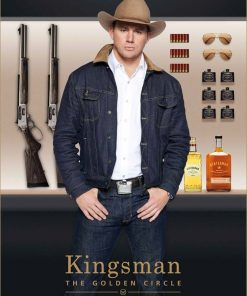 Kingsman The Golden Circle Tequila Blue Denim Jacket