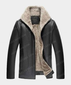 Lierdar Fur Faux Leather Jacket