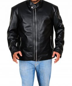 Amenadiel Lucifer Black Leather Jacket