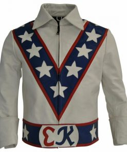 Daredevil Evel Knievel Leather Motorcycle Jacket