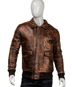 Mens Distressed Brown Leather Jackets