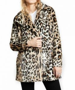 Beth Dutton Yellowstone Cheetah Print Brown Fur Coat